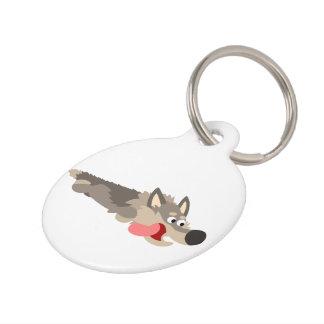 Cute Fleet Cartoon Wolf Dog Tag Pet ID Tag