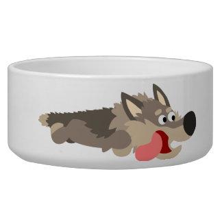 Cute Fleet Cartoon Wolf Pet Bowl
