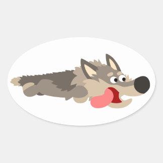 Cute Fleet Cartoon Wolf Sticker