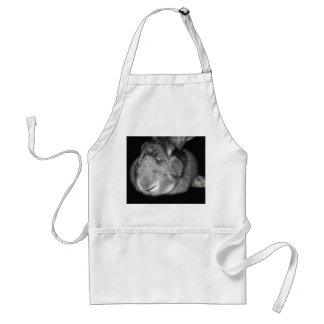 Cute Flemish Giant Nose Close-Up Adult Apron
