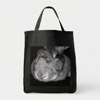 Cute Flemish Giant Nose Close-Up Canvas Bag