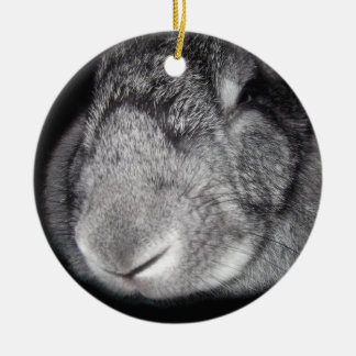 Cute Flemish Giant Nose Close-Up Christmas Tree Ornaments