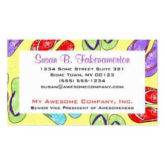 Cute Flip Flop Beach Theme Business Card