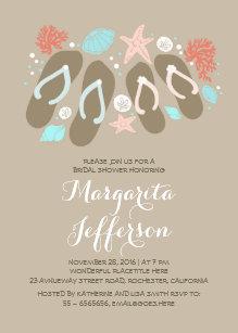 87e072a3c2d72e cute flip flops beach bridal shower invites