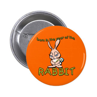 Cute & Flirty Born in the Year of the Rabbit Gifts Button