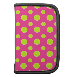 Cute Flirty Pink and Yellow Polka Dot Patterned Planners