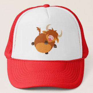 Cute Floating Cartoon Highland Cow Hat