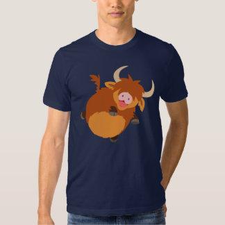 Cute Floating Cartoon Highland Cow T-Shirt