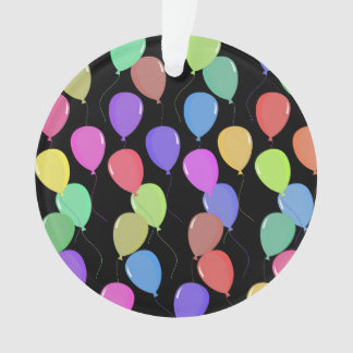 Cute Floating Colorful Pastel Balloons On Black