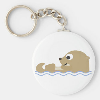Cute Floating Otter Keychain