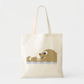 Cute Floating Otter Tote Bag