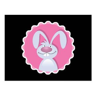 cute floppy ears bunny rabbit post cards