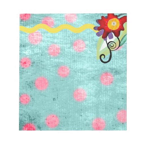 Cute Flora Notepad