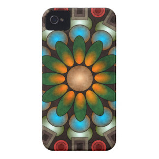 Cute Floral Abstract Vector Art BlackBerry Bold Case-Mate iPhone 4 Case