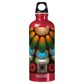 Cute Floral Abstract Vector Art Bottle