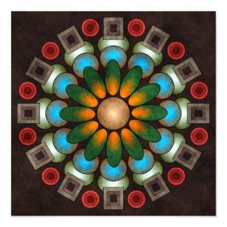 Cute Floral Abstract Vector Art Card