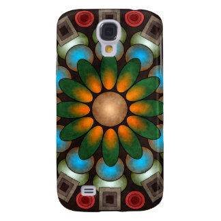 Cute Floral Abstract Vector Art Samsung Galaxy S4 Cover