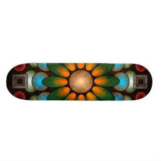 Cute Floral Abstract Vector Art Skateboard