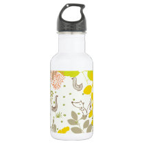 cute floral animals water bottle
