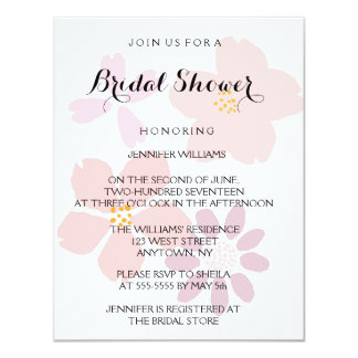 Cute Floral Bridal Shower Invitations