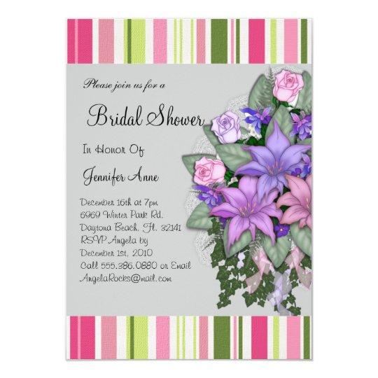 Cute Floral Bridal Shower Invite