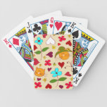 Cute Floral Cat Flower Hat 2 Bicycle Playing Cards