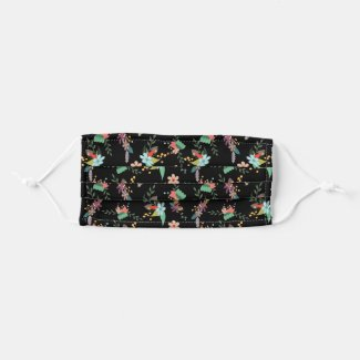 Cute Floral Custom Background Adult Cloth Face Mask