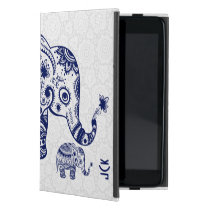 Cute Floral Elephant In Navy Blue Cover For iPad Mini