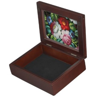 Cute floral, flowers keepsake box