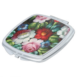 Cute floral, flowers vanity mirror