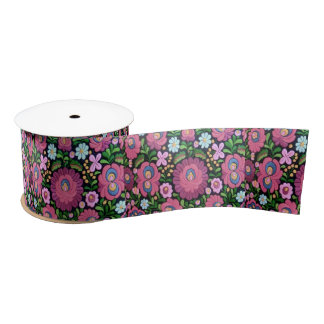 cute floral, flowers satin ribbon