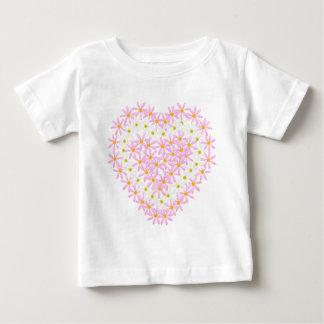 Cute Floral Heart Baby T-Shirt
