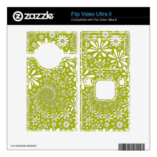 Cute Floral in Olive Green and White Skin For Flip Ultra II