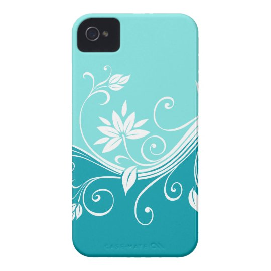 Cute Floral iPhone Barely There Cover Blue