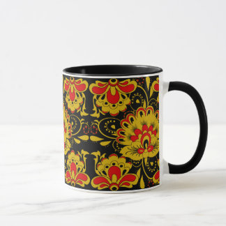CUTE FLORAL khokhloma style Mug