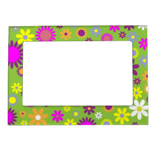 Cute Floral Magnetic Photo Frame