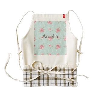 cute,floral,mint,pink,vintage,trendy,girly,trellis zazzle HEART apron
