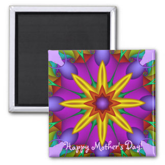 Cute Floral Mother's day magnet with Text