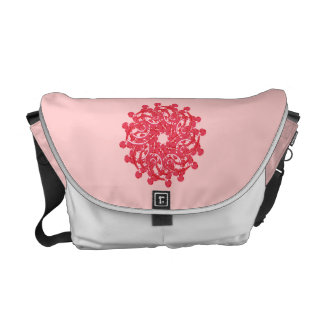 Cute Floral Ornament Messenger Bag