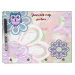 Cute Floral Owl Dry-Erase Whiteboards