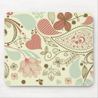 Cute Floral Paisley Pattern Mousepad