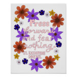 Cute Floral Pastel Typography Motivation Quote Poster
