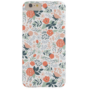 Cute Floral Pattern Girly Barely There iPhone 6 Plus Case