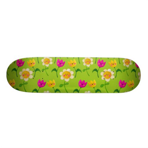 Cute Floral Pattern Skate Deck