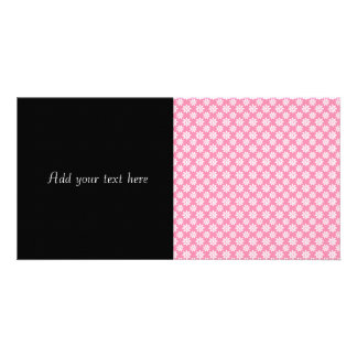 Cute Floral Pattern White over Pink Card