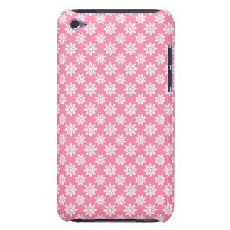 Cute Floral Pattern White over Pink iPod Touch Cases