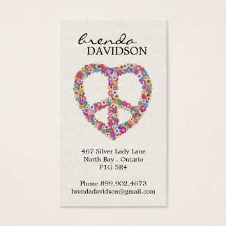 Cute Floral Peace Sign Profile / Calling Card
