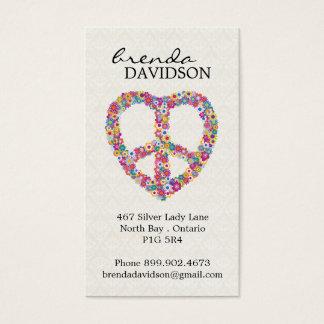 Cute Floral Peace Sign Profile / Calling Card