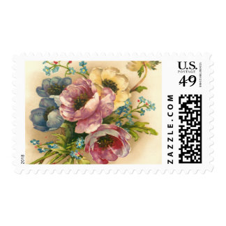 cute floral postage,flowers stamp