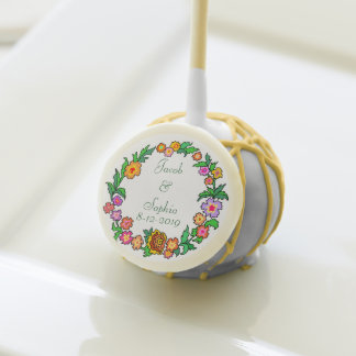 Cute Floral Spring Wreath 2 Cake Pops